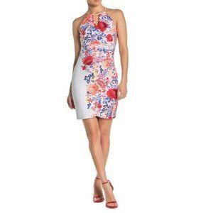 Guess  2 Coral Floral Halter Dress NWT AL77